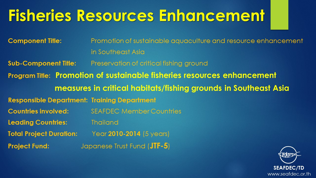 Fisheries Resources Enhancement