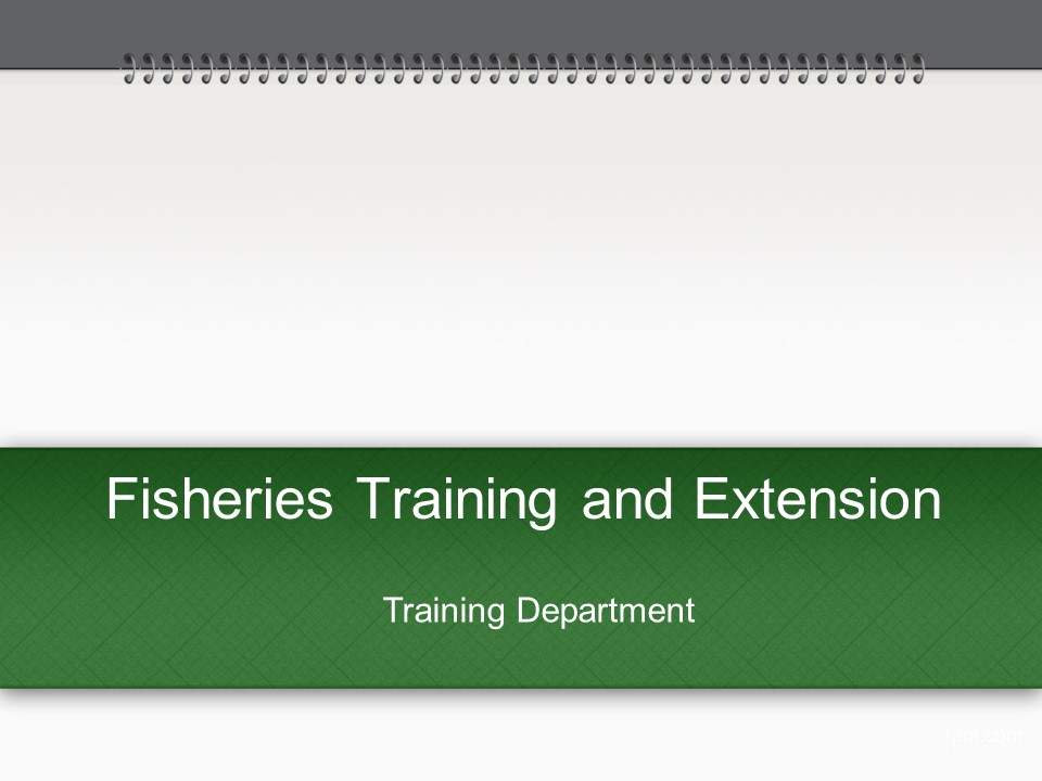 Training and Extension Activities
