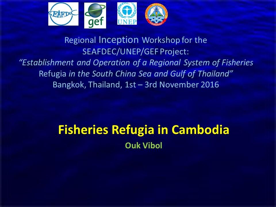 Cambodia Status Report