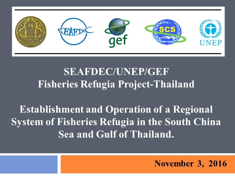 Thailand Status Report